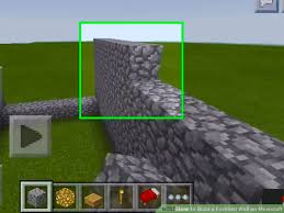 Minecraft How To Make A Bed How To Build A Fortified Wall On Minecraft 8 Steps