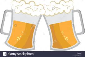 beer cheers cartoon cheers beer cups vector graphic stock vector art u0026 illustration