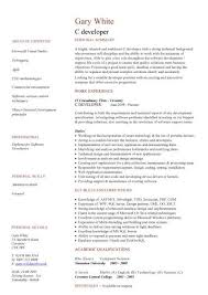 java resume c developer cv sle resume cv writing application c