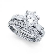 White Gold Cz Wedding Rings by Engagement U0026 Wedding Ring Sets Rings