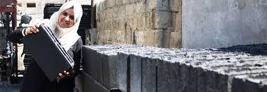 home design building blocks gaza subvert blockade with building bricks made from