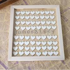 wedding guest book unique personalised wedding guest book alternative wooden heart