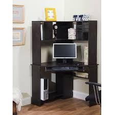 Cheap Black Corner Desk Corner Computer Desk And Hutch Black Oak Walmart