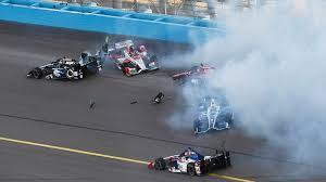 video five car crash mars first lap of phoenix indycar race