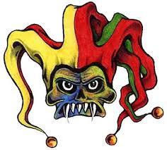 evil colorful joker clown tattoo design tattoos book