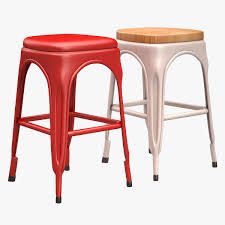 Tolix Bar Table Tolix Bar Chair 3d Asset Cgtrader