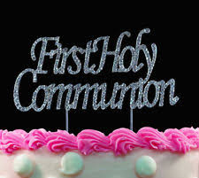 communion cake toppers holy communion cake topper with chalice silver ebay