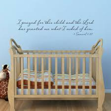 bible verse wall decal 1 samuel 1 27 i prayed for this child