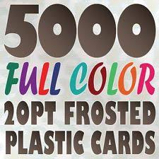 Full Color Business Card Printing Plastic Card Printing Ebay
