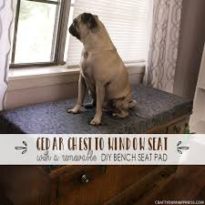 window bench for dog turn a cedar chest into a window diy bench seat