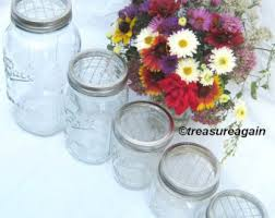 jar flower arrangements jar flowers etsy