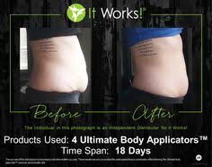 the ultimate body applicator is a non woven cloth wrap that has