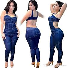 plus size denim jumpsuit 2018 plus size denim jumpsuit overalls summer backless