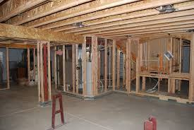 Basement Finishing Costs by Framing Basement Half Concrete Wall