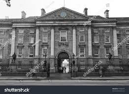 trinity college dublin ireland black white stock photo 79426645