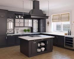 kitchen dark brown oak kitchen cabinets decor with minimalist