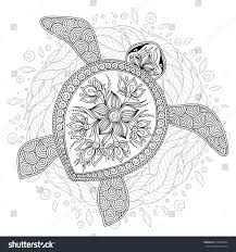 vector illustration sea turtle coloring book stock vector