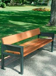 Steel Garden Bench Public Bench Contemporary Wooden Metal Garden B15