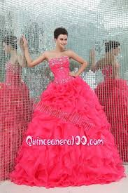quinceanera dresses coral sweetheart beading and ruffles organza coral quinceanera dress