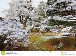 japanese garden in winter stock photography image 24273402