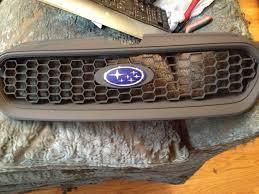 custom subaru emblem diy car mods series 20 honeycomb grille insert from the