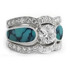 turquoise wedding rings turquoise wedding rings