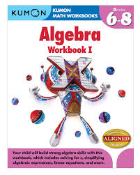 Algebraic Expressions Worksheets 9th Grade Amazon Com Kumon Algebra Workbook I Kumon Math Workbooks