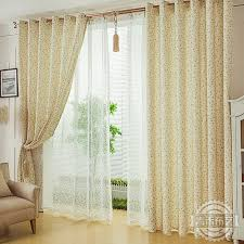 Unique Photos Of New Arrival Light Yellow Leaf Print Living Room Living Room Curtain Design