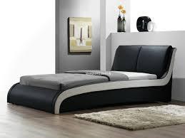 Faux Bed Frame Brilliant Cheap Boston Faux Leather Black Italian Designer Bed