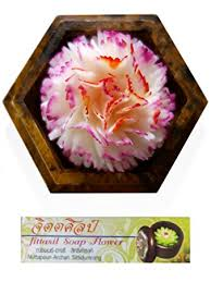floral delights decorative mango wood picture photo home amazon com jittasil thai hand carved soap flower 4 inch scented