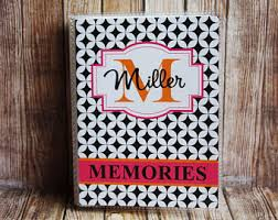 monogrammed photo album personalized photo album etsy