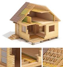lht wood frame house construction on behance out side