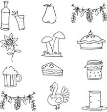 vintage thanksgiving day set royalty free vector