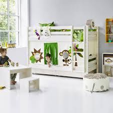 Flexa White Play Curtain - High bunk beds