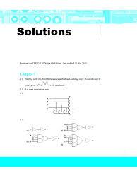 solution cmos vlsi design 4th odd