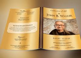 funeral program template solid gold funeral program template inspiks market