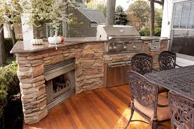 master bath remodel outside fireplace grill traditional deck