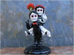 day of the dead cake toppers sugar skull wedding cake toppers