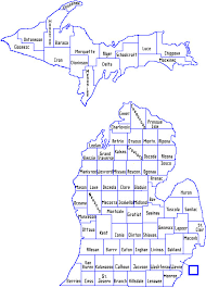 map of michigan mdhhs local health department map