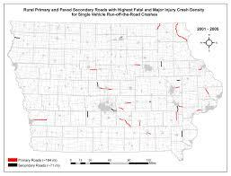 Iowa Road Conditions Map Five Percent Safety Program Iowa Report