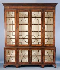 Glass Bookcases Large Antique Style Mahogany U0026 Glass Bookcase For Sale Antiques