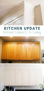 kitchen cabinets wall extension kitchen update extend cabinets to ceiling emily s project