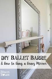 diy ballet barre and how to hang a heavy mirror ballet barre