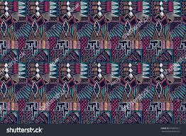 fabric pattern tribal ornament ethnic style stock vector 679867612