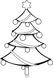 clipart christmas tree coloring page