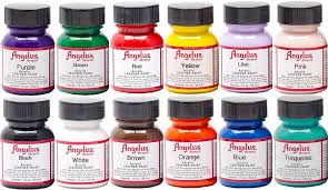 amazon com angelus acrylic leather paint starter kit