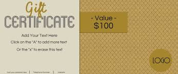 Free Blank Gift Certificate Templates Gift Certificate Template With Logo