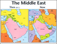 middle east map moses time middle east then and now laminated