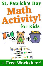 st patrick u0027s day math activity for kids u2014 mashup math
