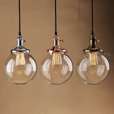 Light Bulb Shades For Ceiling Lights Pathson Vintage Industrial Pendant Light Glass Globe Shade Ceiling